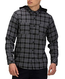 Men's  Crowley Washed Hooded Long Sleeve Shirt