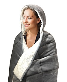 10lb Hooded Sherpa Weighted Blanket