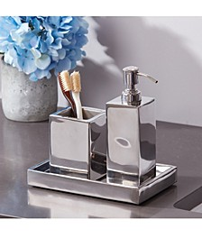 Modern Shiny 3-Pc. Bath Accessory Set