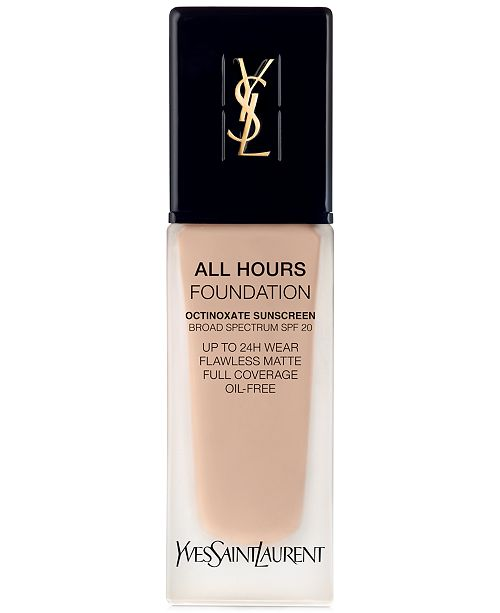 Yves Saint Laurent All Hours Foundation, 0.84-oz.
