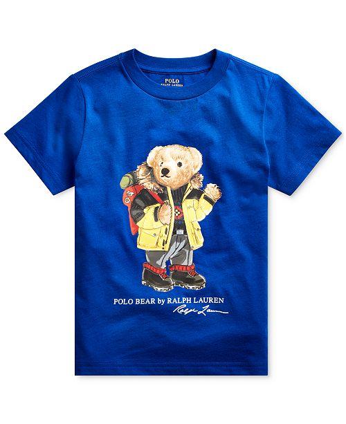 Polo Ralph Lauren Little Boys Ski Bear Cotton Jersey T-Shirt
