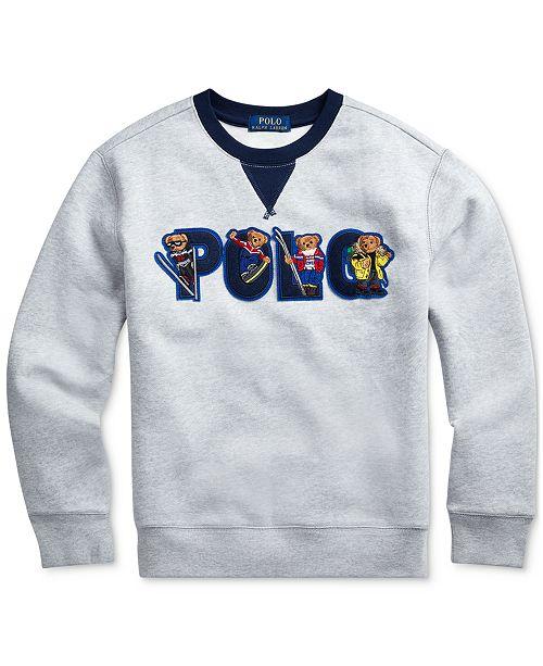 Polo Ralph Lauren Polo Ralph Boys Ski Bear Fleece Sweatshirt