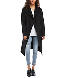 Plush Belted Trench Coat
