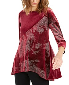 Velvet Metallic Top, Created for Macy's