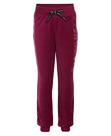 Calvin Klein Big Girls Velour Performance Jogger Pants