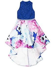 Big Girls Glitter-Lace High-Low Dress