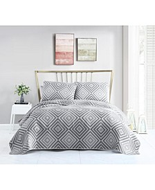 Nevin Matelasse 3PC Full/Queen Quilt Set