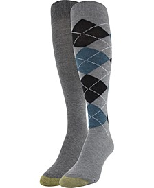 Women's 2-Pk. Argyle Knee High Socks