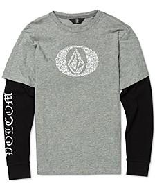 Big Boys Cotton Layered-Look T-Shirt