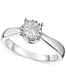 TruMiracle® Diamond Solitaire Engagement Ring (1 ct. t.w.) in 14k Gold