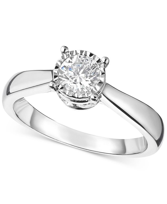 Macy's - Diamond Solitaire Engagement Ring (1 ct. t.w.) in 14k Gold