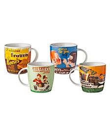 Hershey Vintage Mugs - Set of 4