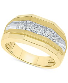 Men's Diamond Channel-Set Band (1 ct. t.w.) in 10k Gold