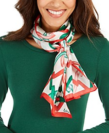 Ribbon Curl Silk Oblong Scarf