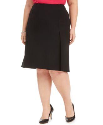 Plus Size A-Line Skirt