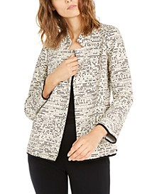 Notch-Collar Printed Jacket, Created For Macy's