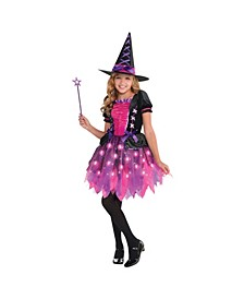 Big Girls Light-Up Sparkle Witch Costume