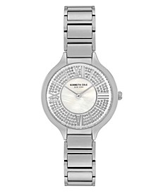 Women's Silver-Tone Stainless Steel Bracelet Watch, 33mm