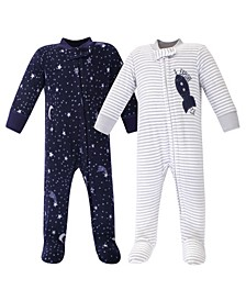 Baby Girl and Boy Fleece Sleep and Play 2 Pack