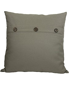 """Buttons Solid Color Pillow Collection, 20"""" x 20"""""""