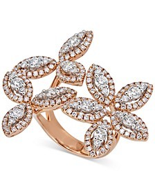 Diamond Flower Statement Ring (2-3/4 ct. t.w.) in 14k Rose Gold