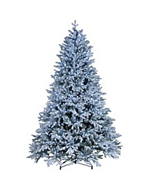 7.5 ft. PowerConnect TM Snowy Hamilton Spruce Tree with Cool White LED Lights