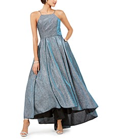 Metallic High-Low Gown