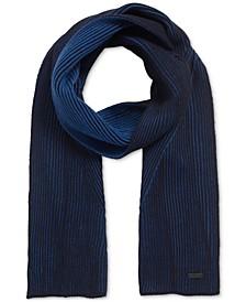 BOSS Men's Ballos Rib-Knit Scarf