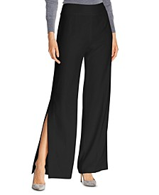 Haidee Side-Slit Wide-Leg Pants