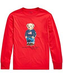 Big Boys Sweater Bear Cotton Long-Sleeve T-Shirt, Created For Macy's