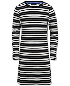 Big Girls Logo-Tape Striped Dress