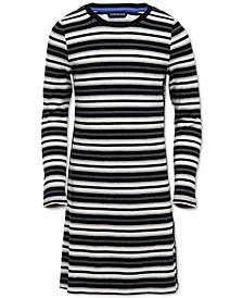 Big Girls Logo-Tape Striped Dress