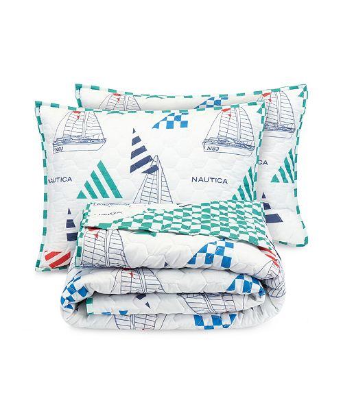 Nautica Kids Sailboat 2-Piece Twin/Twin XL Quilt Set