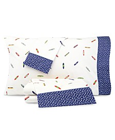 Kids Surfboard Print Full Sheet Set