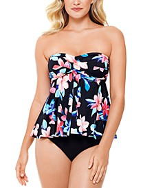 Bandeau Flyaway Tankini Top & Swim Bottoms, Created for Macy's