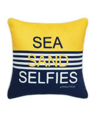 """Sea Sand Selfies"" Decorative Pillow"
