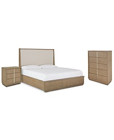 Melbourne Bedroom 3-Pc. Set (King  Bed, Nightstand & Chest)