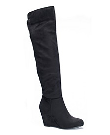 Unforgettable Over the Knee Wedge Boots