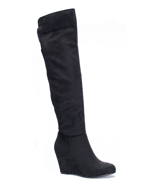 entire collection watch sleek Chinese Laundry Unforgettable Over the Knee Wedge Boots & Reviews ...