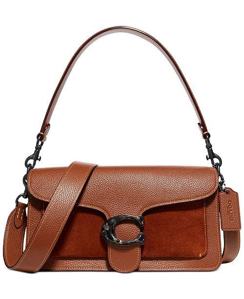 COACH Tabby Mixed Leather Crossbody Bag