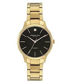 Men's Gold-Tone Stainless Steel Bracelet Watch, 41mm