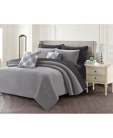 Harper Lane Solid 9 Piece Bed In A Bag Set, King