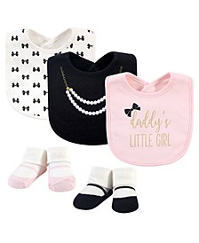Baby Girl 5-Piece Bib and Sock Set