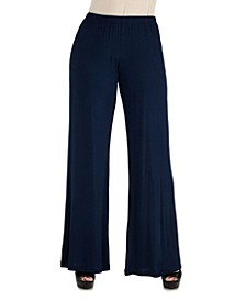 Women Comfortable Solid Color Palazzo Pants