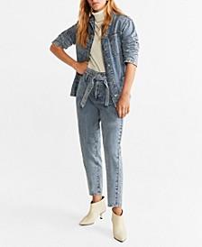 High Waist Acid Jeans