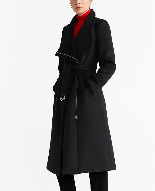 MANGO Unstructured Belt Coat