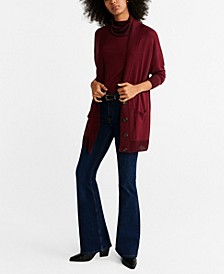 Contrasting Buttoned Cardigan