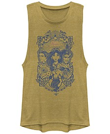 Juniors' Aladdin Vintage-like Aladdin Collage Festival Muscle Tank Top