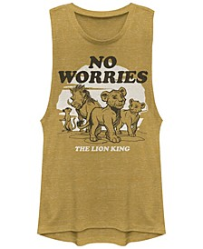 Juniors' Lion King No Worries Back Festival Muscle Tank Top