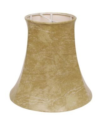 Slant Faux Animal Hide Chandelier Lampshade with Flame Clip